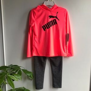 Puma-activewear outfit for toddler girls-size 4